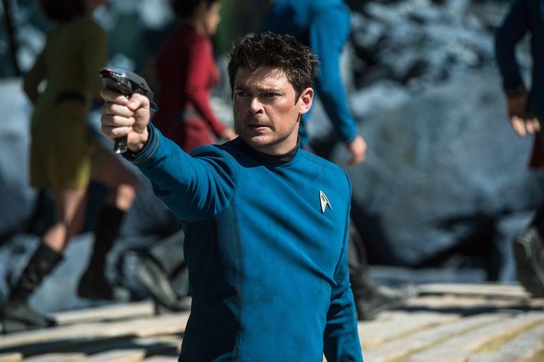 Karl Urban stars as Dr. Leonard McCoy in *Star Trek: Beyond*