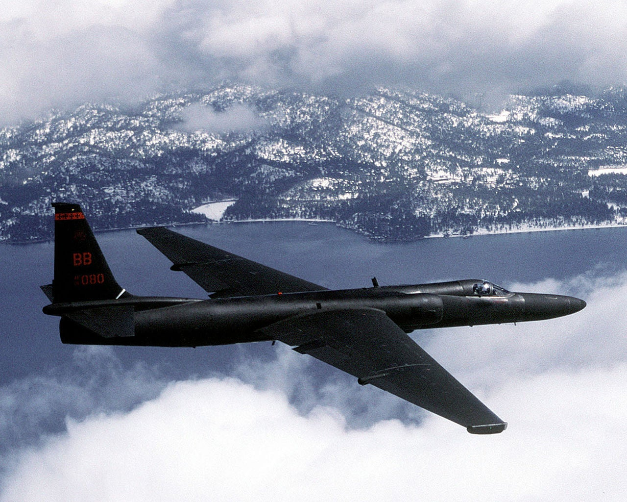 U-2 reconnaissance aircraft in flight