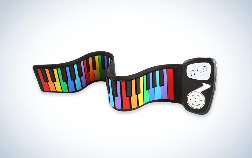 JouerNow Rainbow Roll Up Piano
