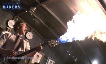 "Homemade ""Mad Max"" Flamethrowing Guitar Rocks Hard And Hot"