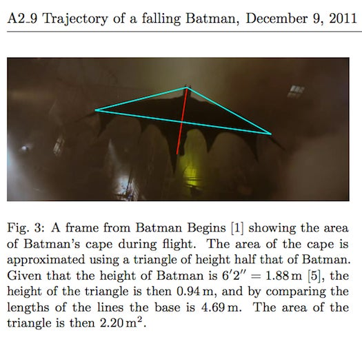 Physics Students Say A Gliding Batman Would Die Upon Landing