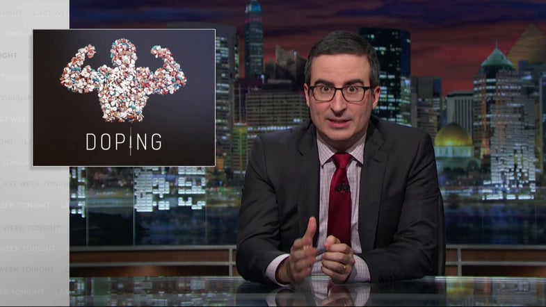John Oliver Discusses The Science And Politics Of Athletes Doping