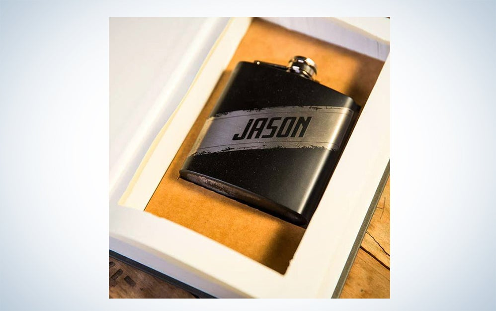 Secret Stash Personalized Flask