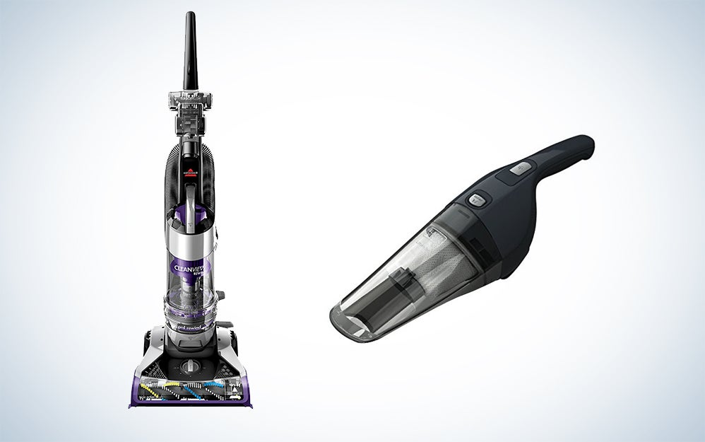 Black + Decker and Bissell vaccums