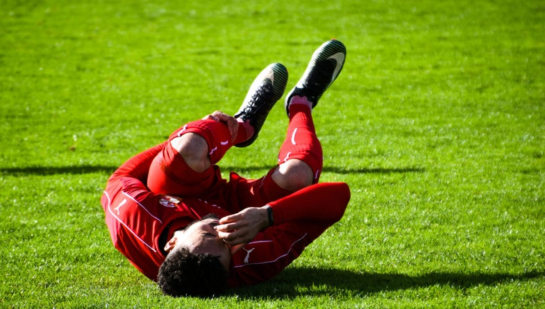 Soccer player injured after getting too many concussions