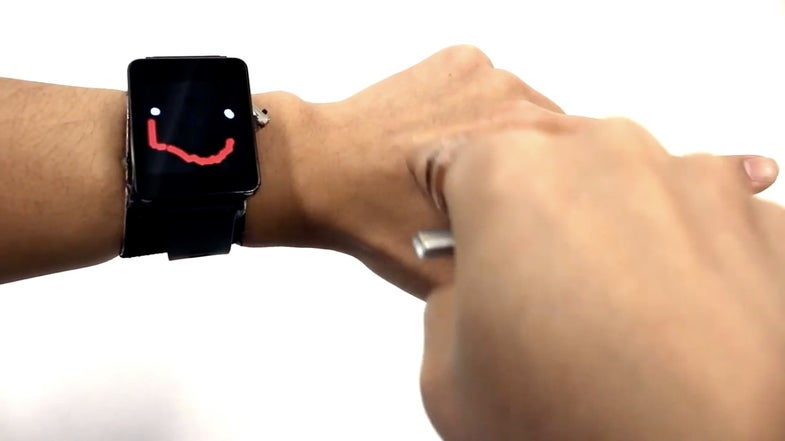 This Smartwatch Turns Your Skin Into A Touchscreen
