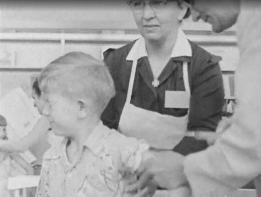 TV Footage Shows Some Of The First Polio Shots Given In The U.S.