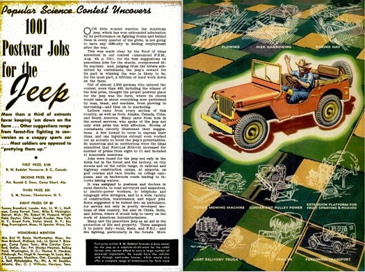 1001 Postwar Jobs for the Jeep: February 1944