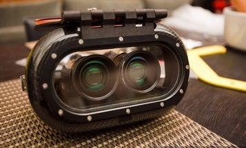 An Impressive, Custom Underwater 3-D Camcorder Setup