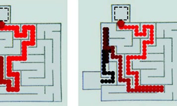 Droplet Of Oil Navigates a Maze As Well As a Lab Rat