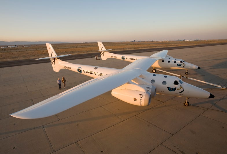 Virgin Galactic Rolls Out Mother Ship