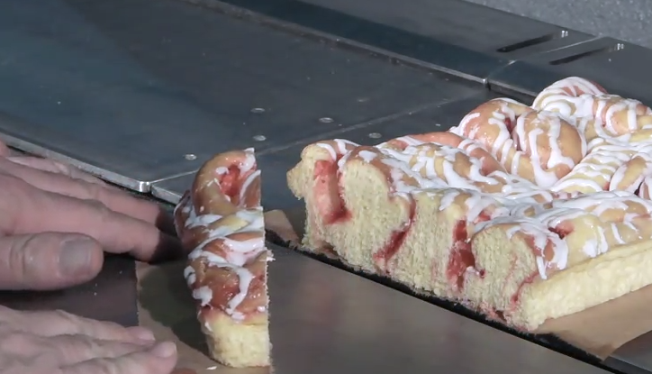 Industrial Food Machine of the Day: Slicing Your Breakfast Pastry With a Water Jet