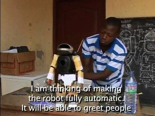 Togolese Student Builds Humanoid Robot From Old TV Parts