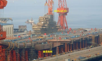 China Adds An Island Tower To Its Aircraft Carrier
