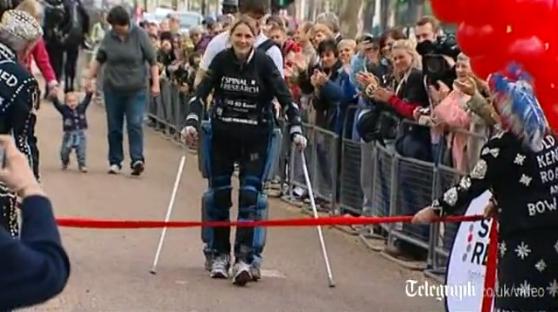 Paralyzed Woman Completes London Marathon in Bionic Suit After 16 Days