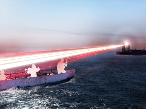 New Shipboard Laser Weapon Takes Aim at Would-Be Pirates