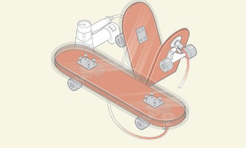This Skateboard Folds In Half To Stow In A Backpack