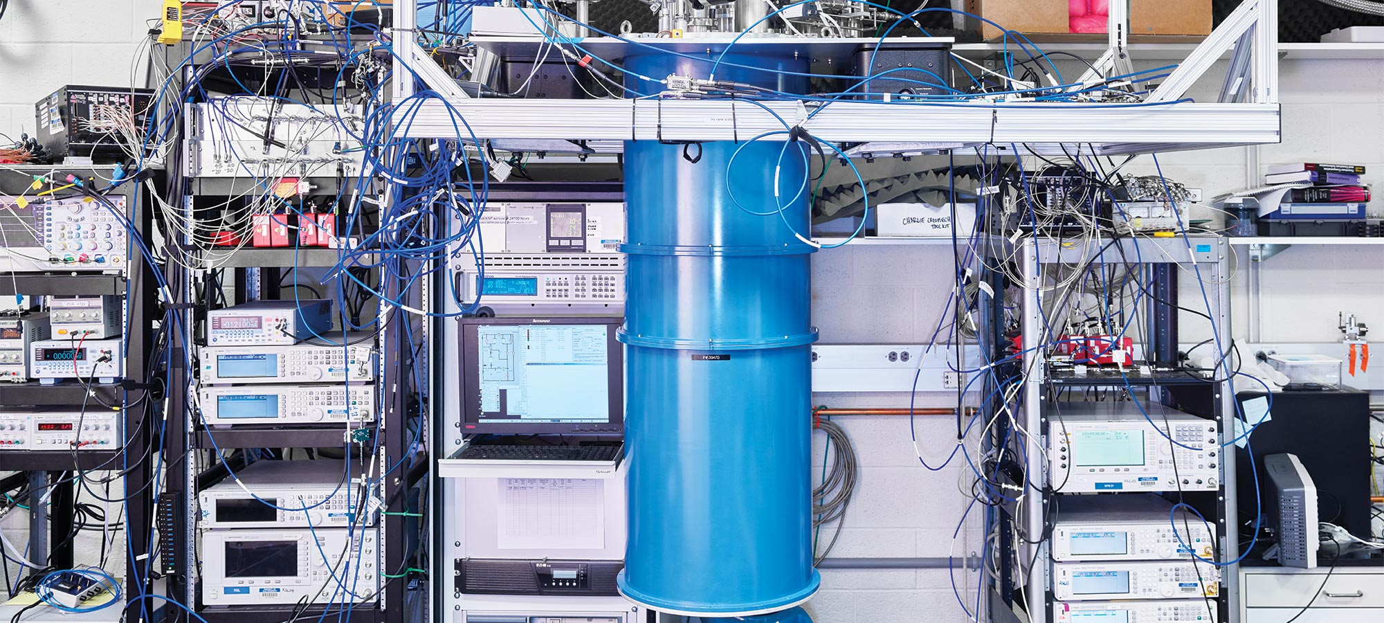 In photos: a rare glimpse inside the heart of a quantum computer