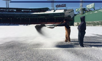 Fenway Is Using Black Sand To Melt Away Monster Amounts Of Snow