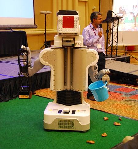 PR2 Robot Learns to Scoop Up Distasteful Matter