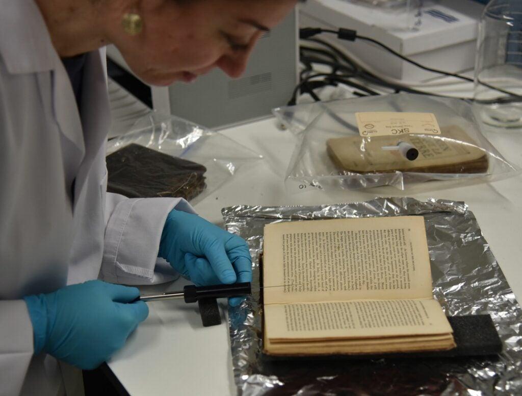 scientist book foil