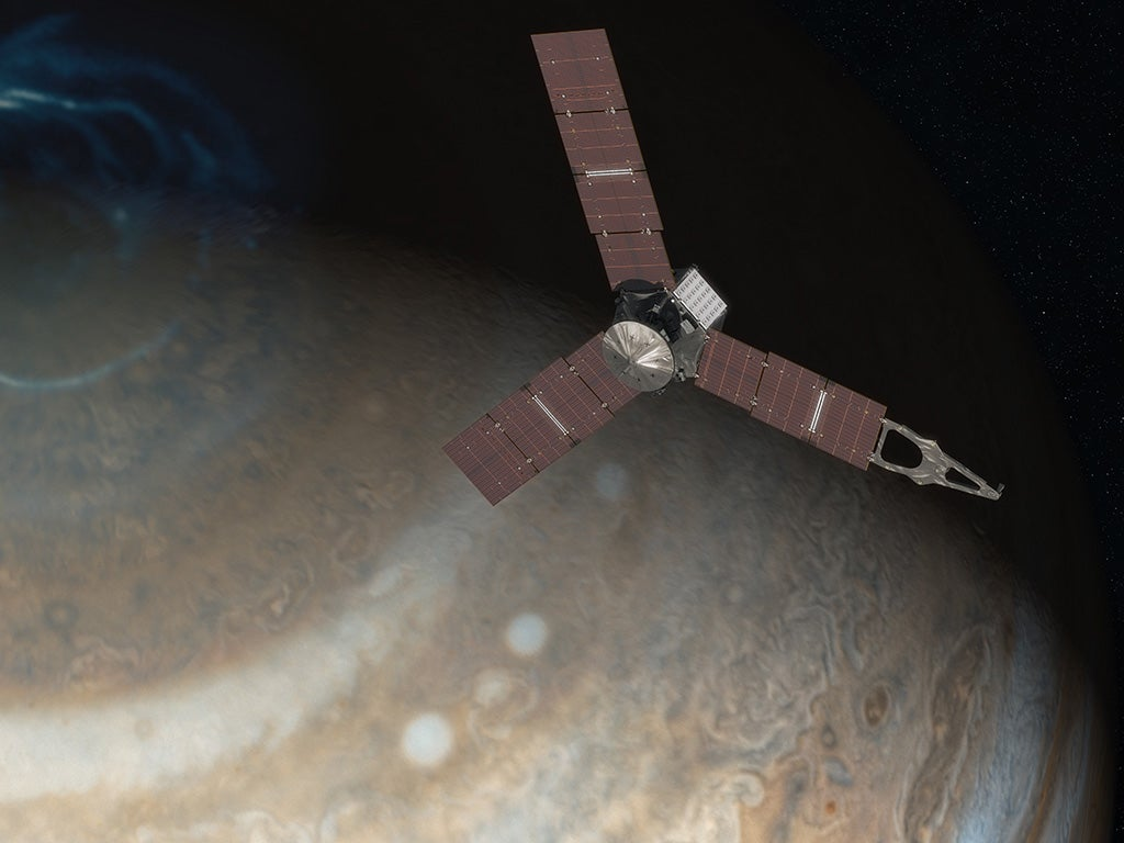 NASA's Satellite Juno at Jupiter