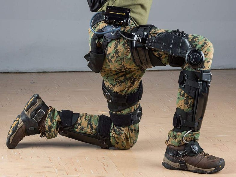 Power-multiplying exoskeletons are slimming down for use on the battlefield