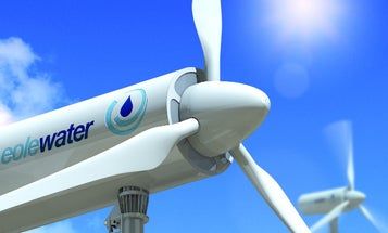 Turbine Condenses Clean Water From the Air and Generates Wind Power At the Same Time