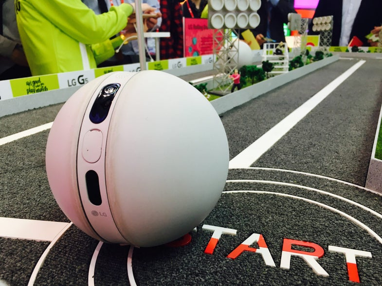 LG Brought A Rolling Robot To MWC 2016