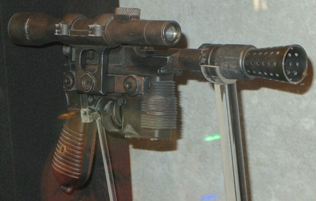 Han Solo's BlasTech DL-44 heavy blaster pistol