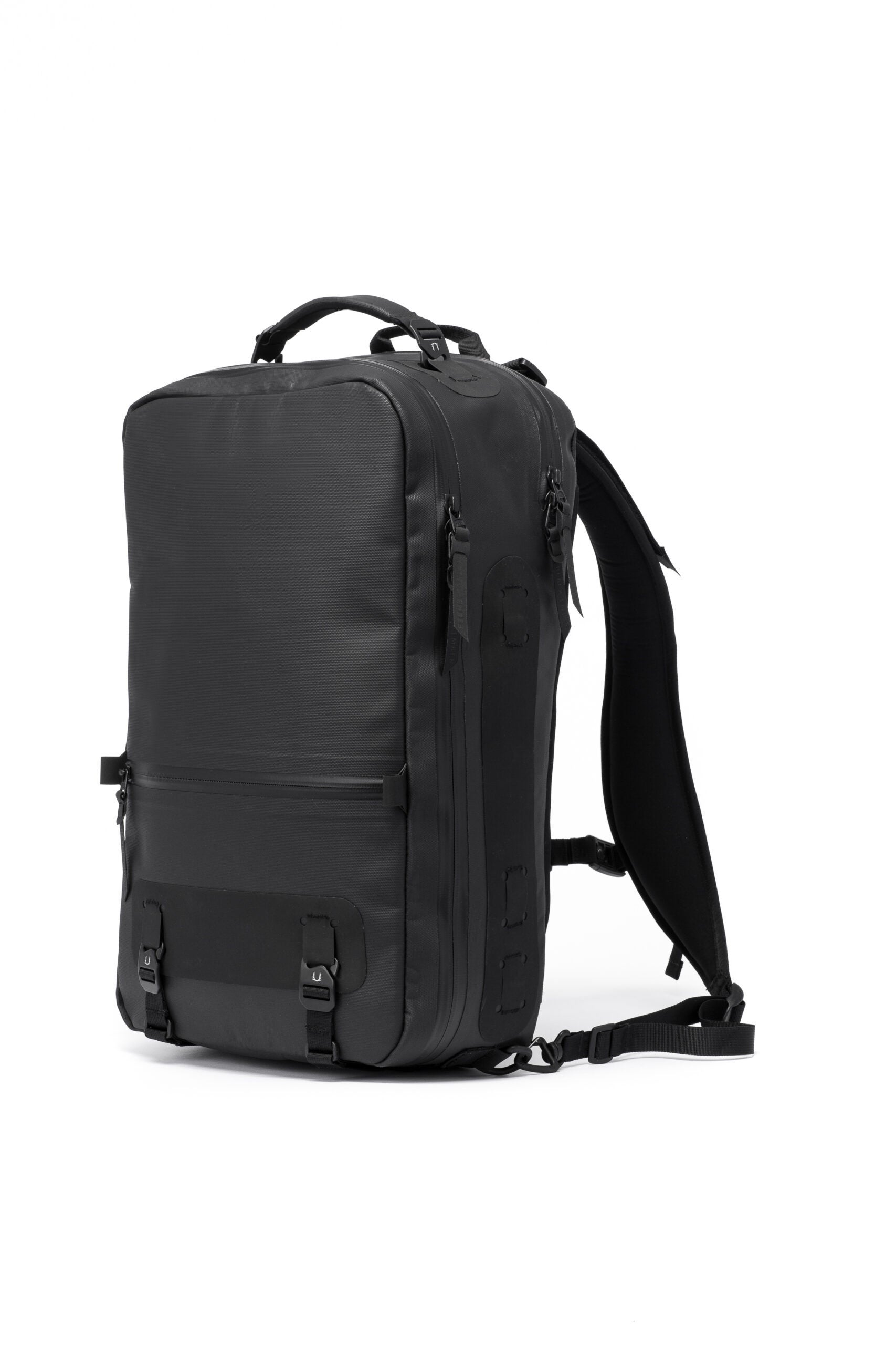 Black Ember used laser-cutting and bonding to make a rugged, waterproof backpack