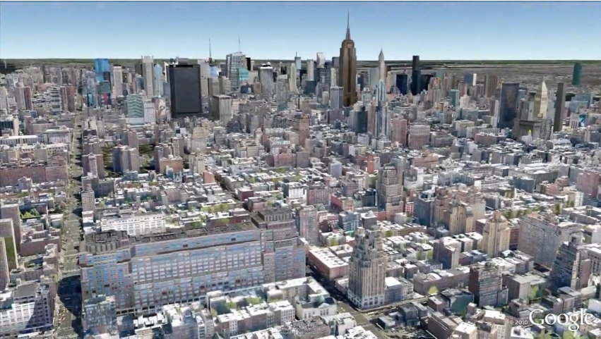 Video: Swoop Through the Real New York as Google Earth Meets Google Street View
