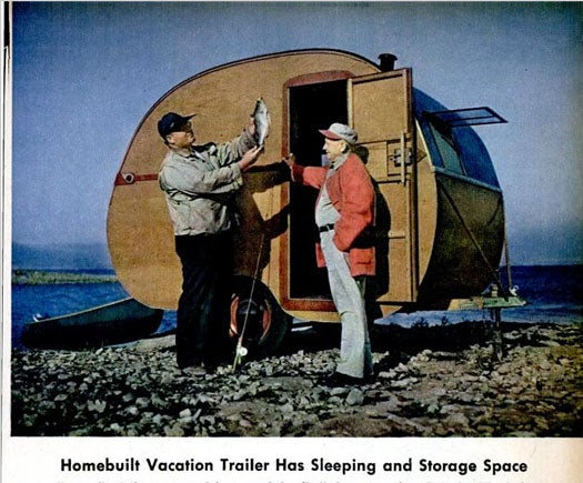 Homebuilt Vacation Trailer: March 1946