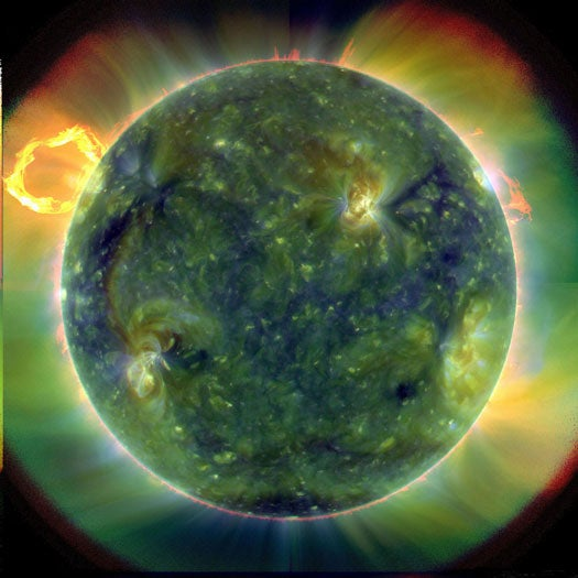 NASA Reveals Solar Dynamics Observatory's First Fiery Images
