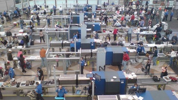 Security screening area at Denver International Airport
