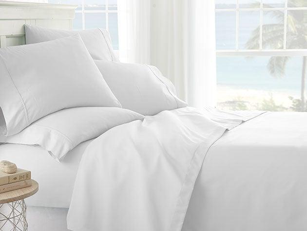 iEnjoy Home White 6-Piece Sheet Set