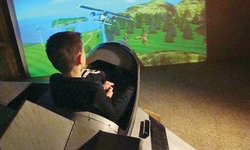 Rec-Room Cockpit: How One Reader Built His Own Flight Simulator