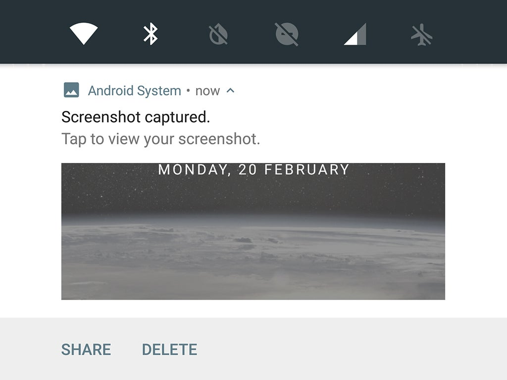 An Android screenshot of a portion of a phone's home screen.