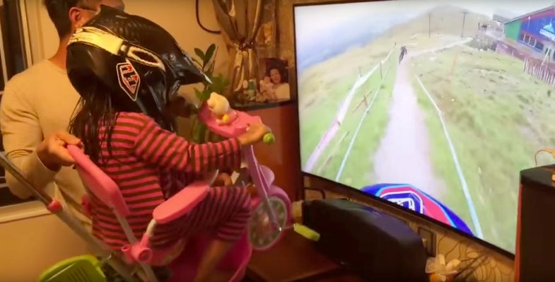 Dad Gives Daughter The Cutest Homemade Virtual Reality Bike Ride