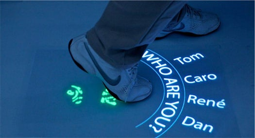 Multitoe Turns Floors Into Massive Multitouch Screens You Control With Your Feet