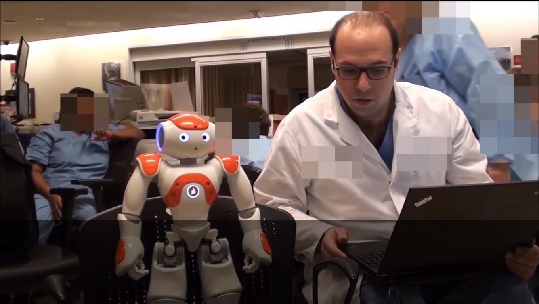 NAO Robot Assists Doctor
