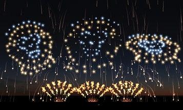 How Fireworks Inscribe The Sky