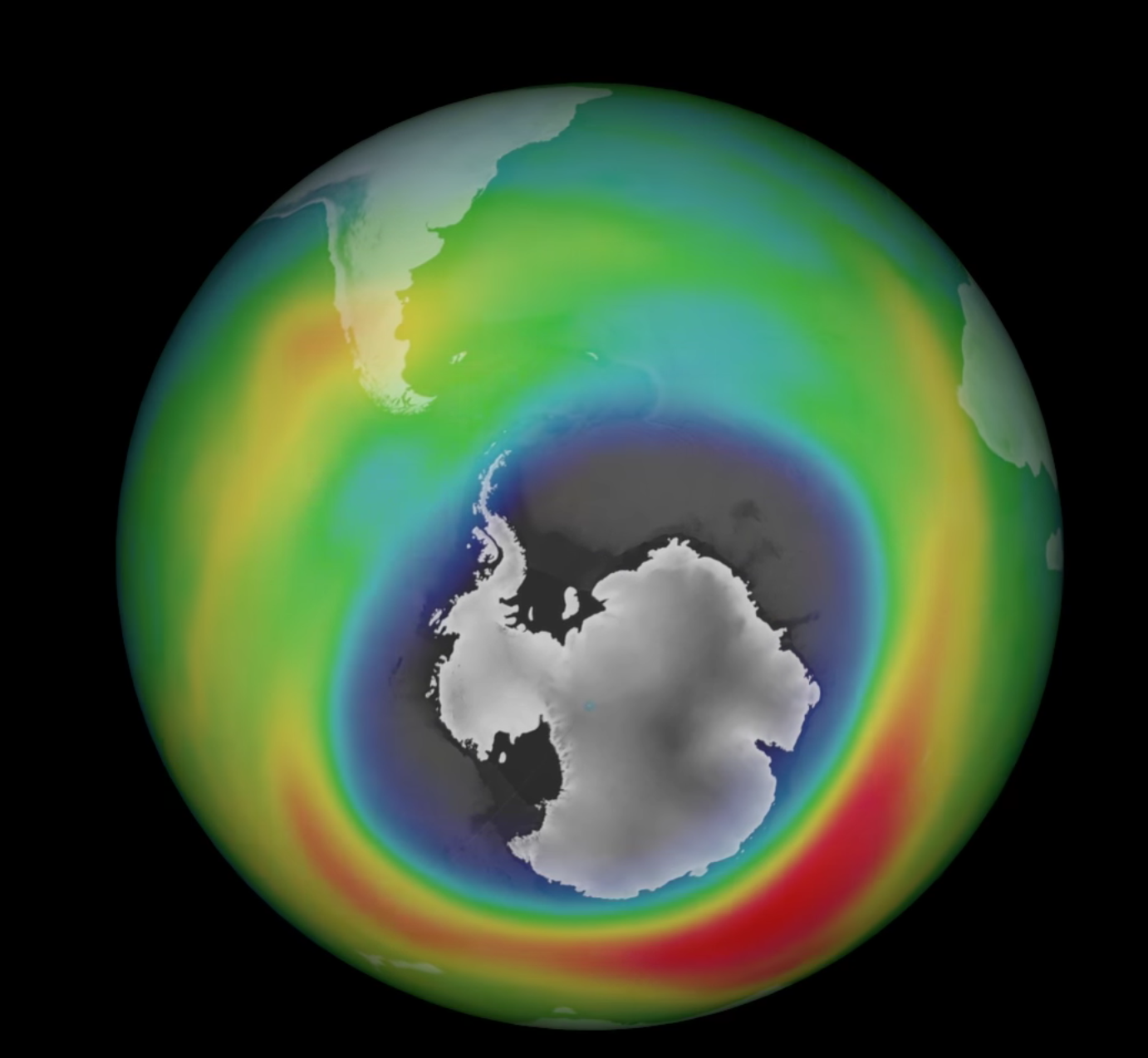 The Ozone Hole Is Now Larger Than North America