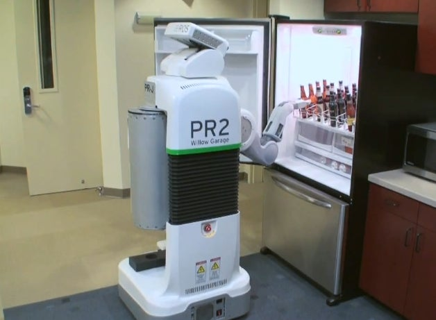 Faithful Willow Garage Robot Taught to Fetch Beer from Fridge