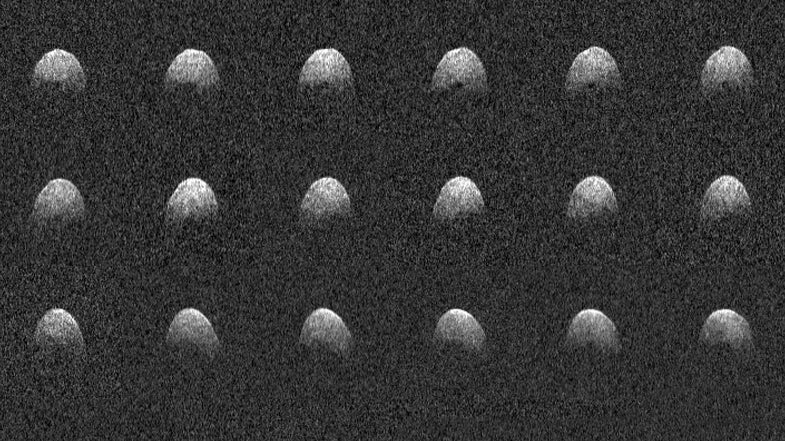 Puerto Rico's Arecibo Observatory is up and running, and it just spotted a nearby asteroid