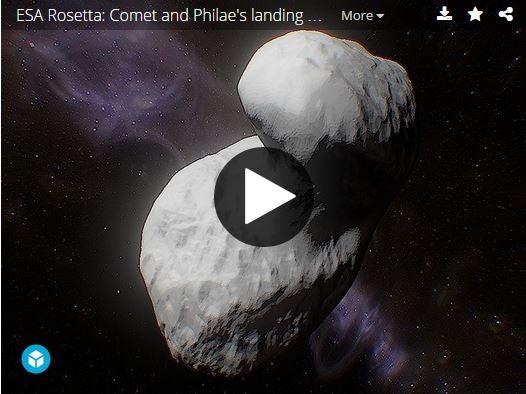 3-D model of a comet