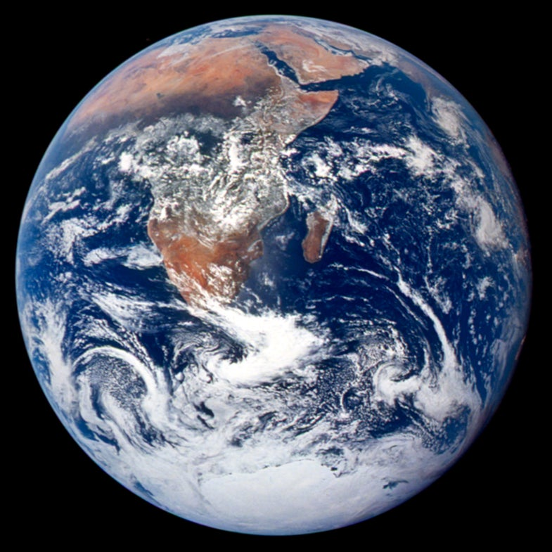 blue marble Earth image