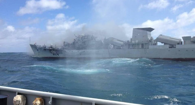 Want to Know What It's Like To Be Blown Up By A Chinese Missile?  Ask This Ship.