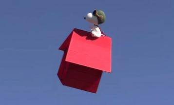 Snoopy Drone Hunts The Skies For The Red Baron