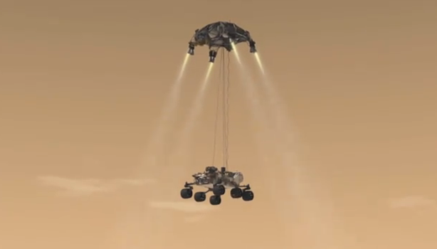 Dramatic Video Shows How New Mars Rover Will Land Using a Sky Crane